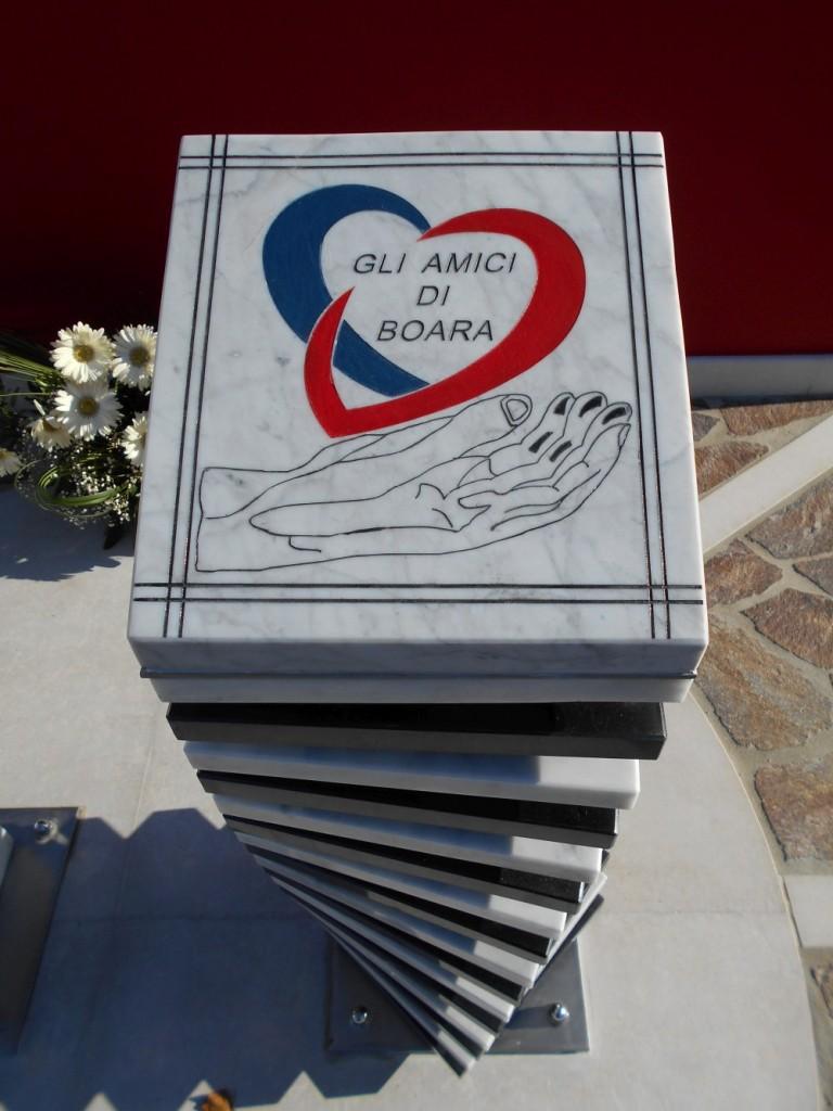 amici cuore, monumento al donatore, AVIS, AIDO, Boara Polesine