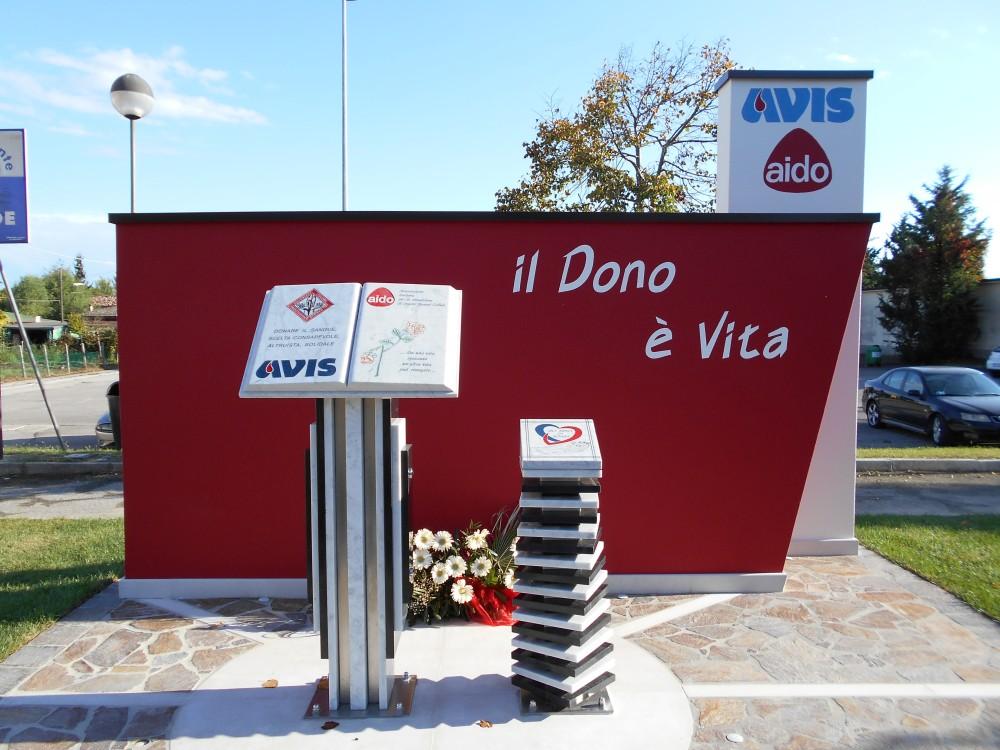 il dono è vita, monumento al donatore, AVIS, AIDO, Boara Polesine