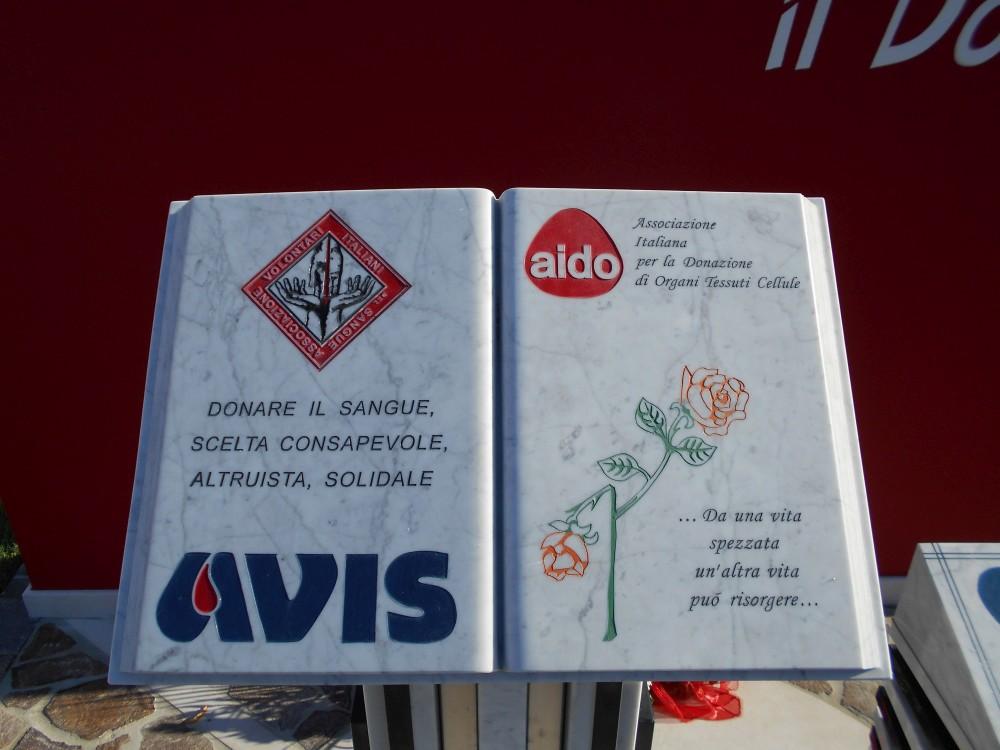 libro, monumento al donatore, AVIS, AIDO, Boara Polesine