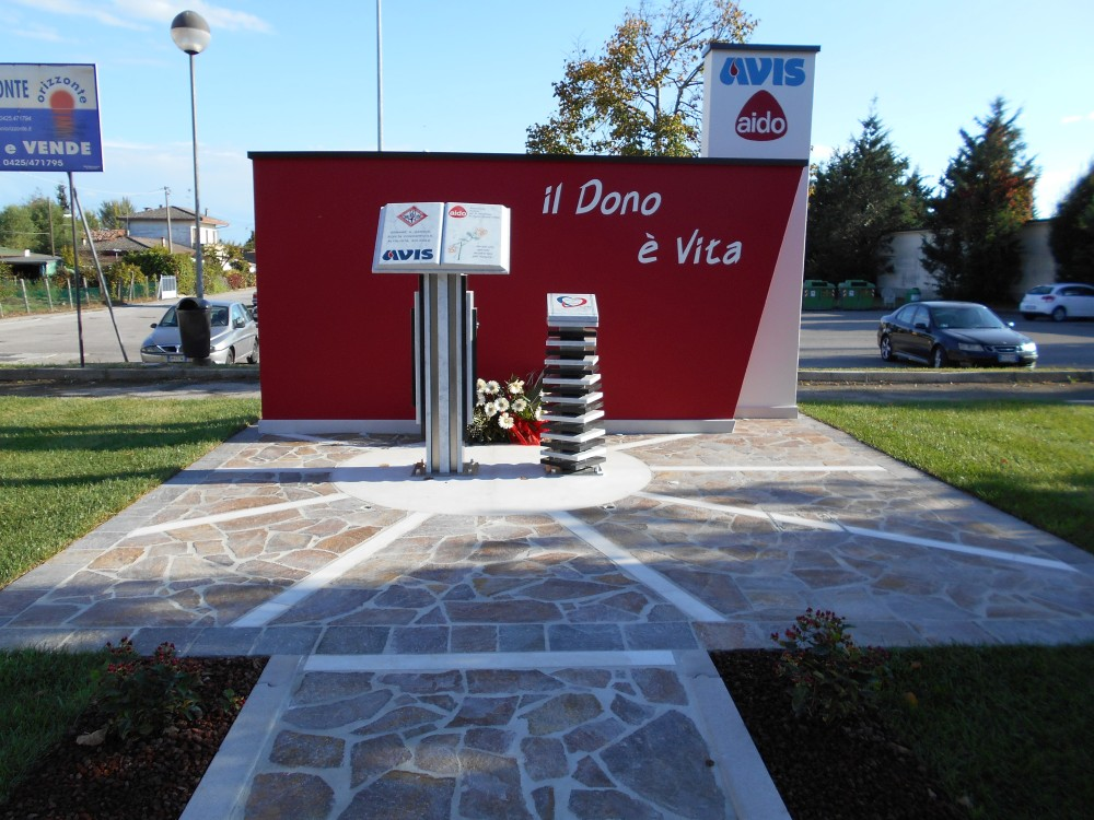 monumento al donatore, AVIS, AIDO, Boara Polesine