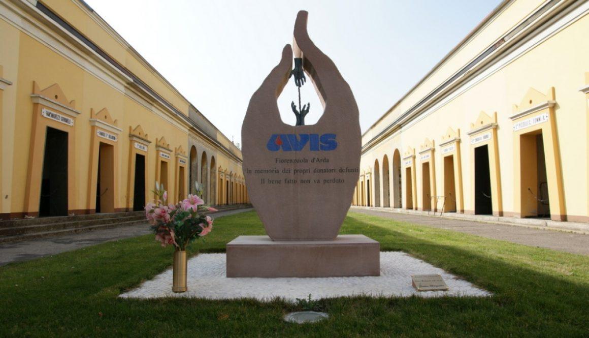 monumento al donatore AVIS, Fiorenzuola d'Adda