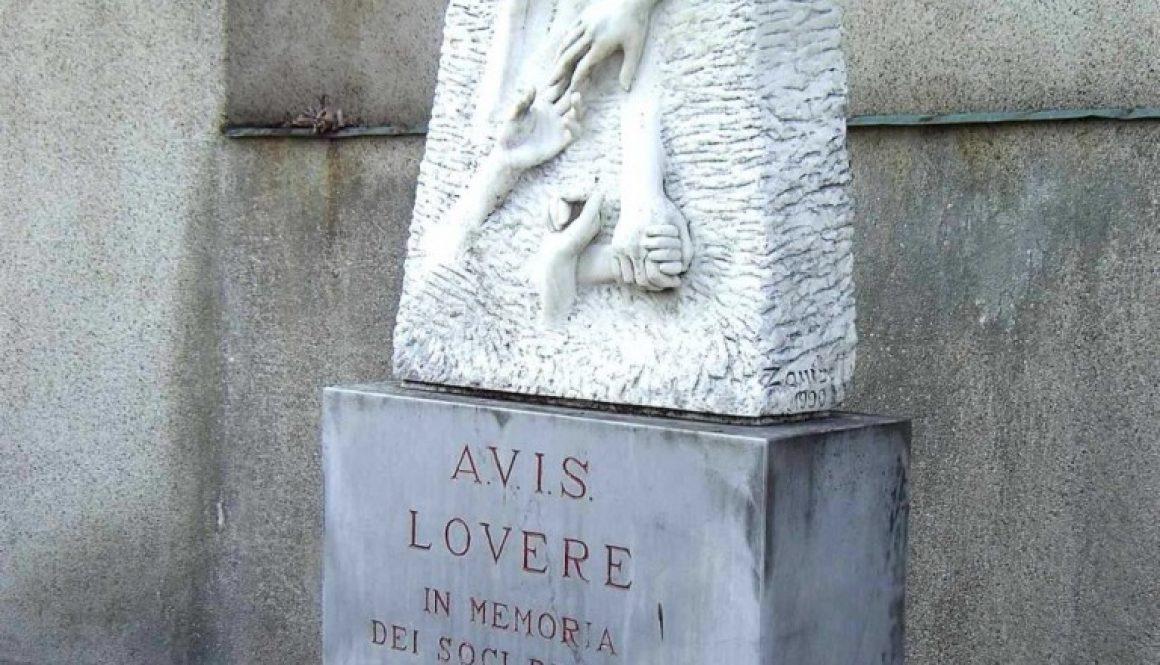 monumento ai donatori di sangue Rovere Bergamo