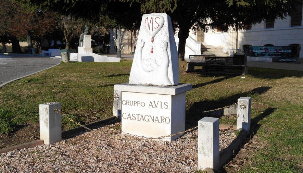 monumento al donatore di sangue, AVIS, Castagnaro