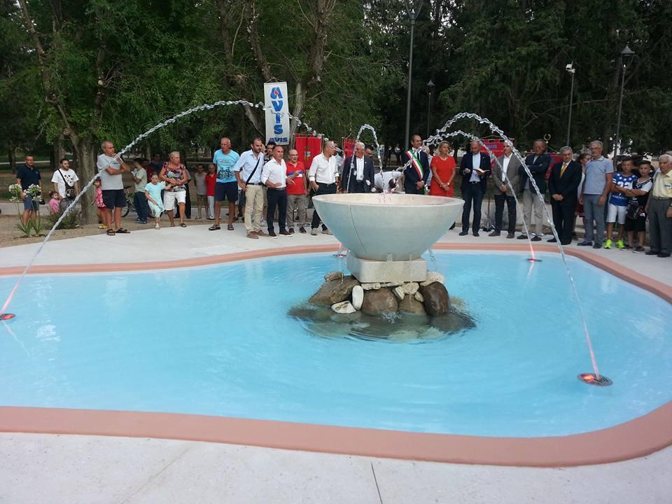 Avis inaugurazione Fontana, Andria