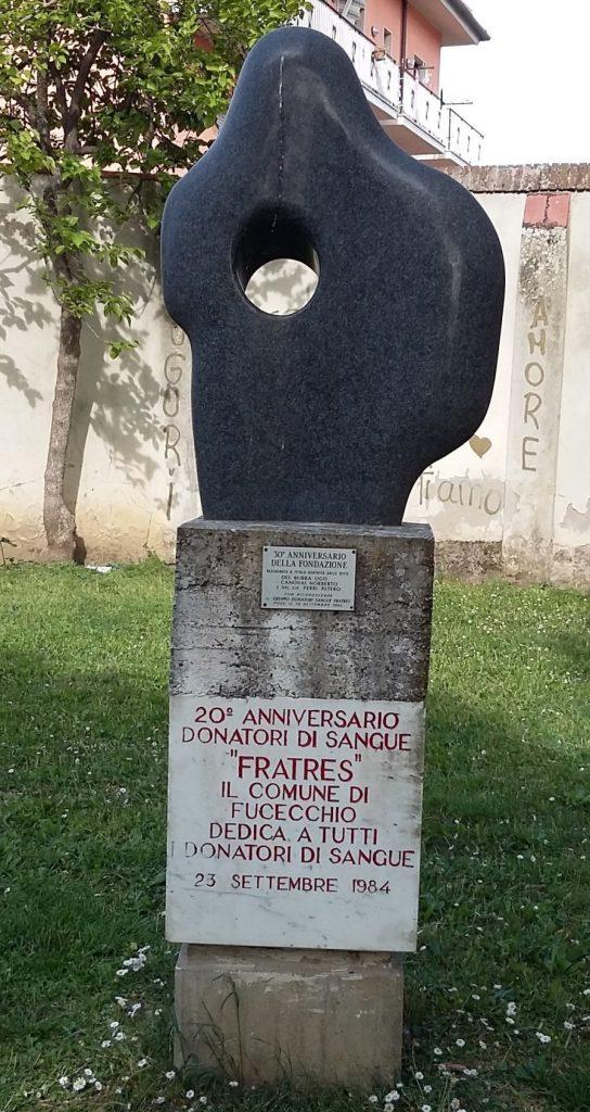 monumento al donatore di sangue fratres Fucecchio