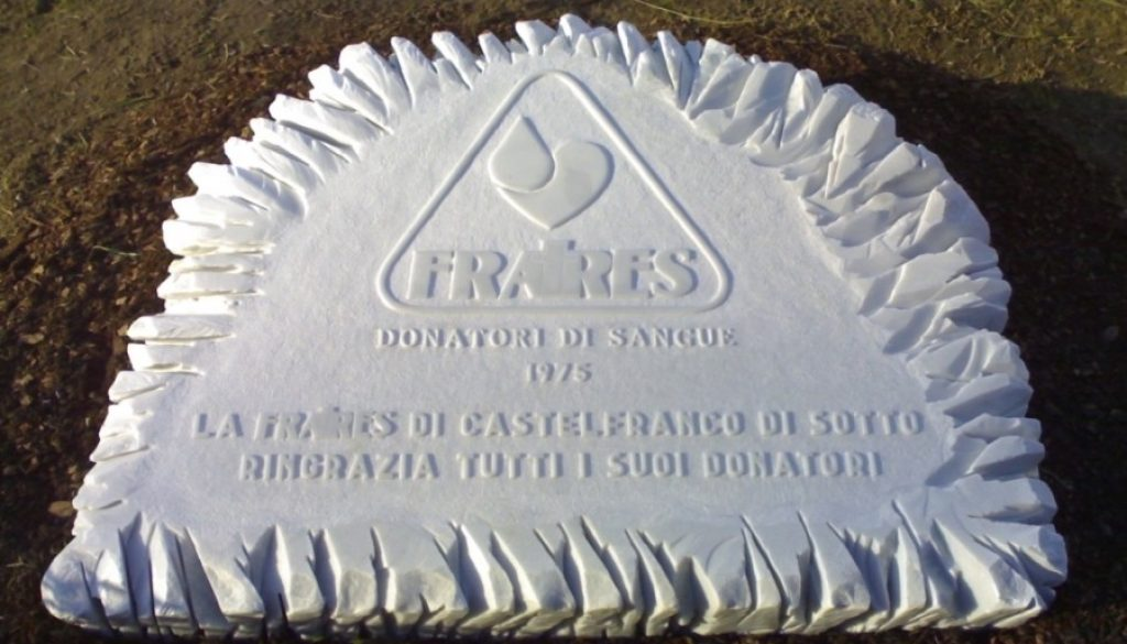 cippo al donatore di sangue Fratres, Castelfranco di Sotto, Fratres