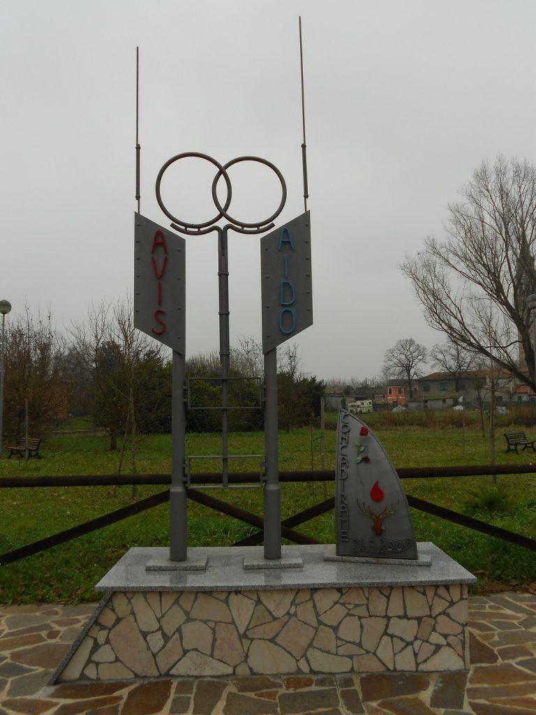 monumento ai donatore AVIS e AIDO, Concadirame, Rovigo