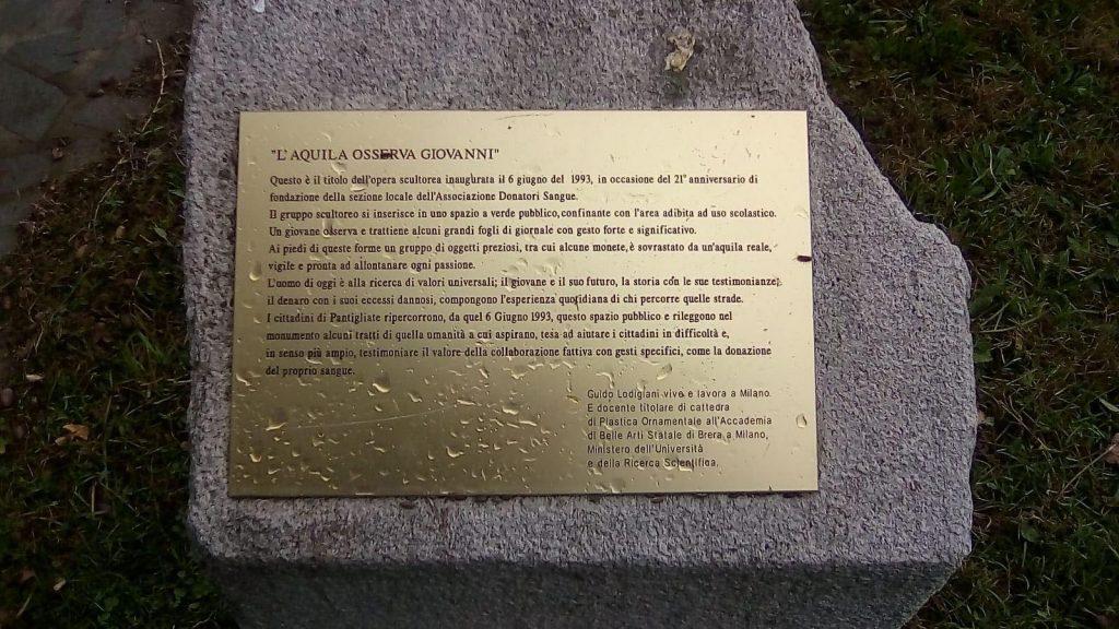descrizione opera, monumento AVIS, Pantigliate, Milano, Guido Lodigiani