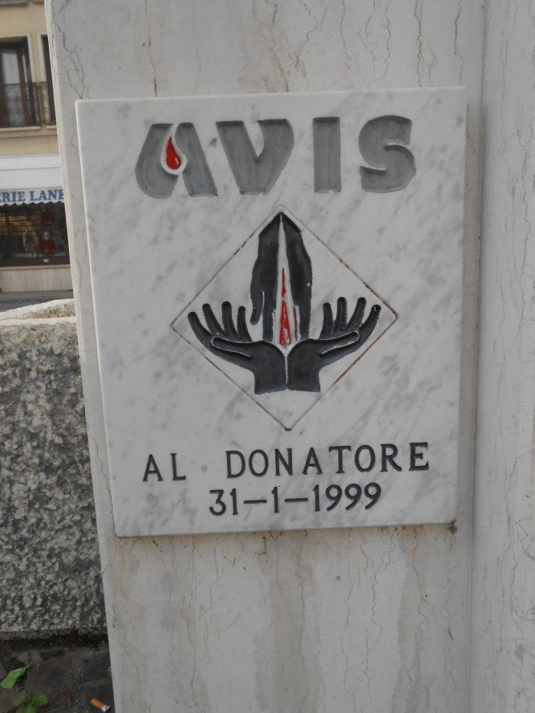 retro, monumento, fontana, AVIS, Malo