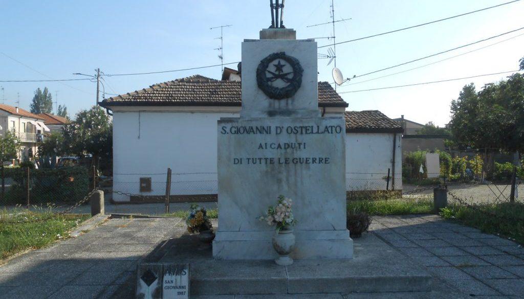 monumento ai caduti, AVIS, San Giovanni, Ostellato