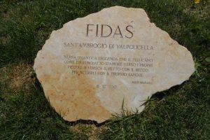 Milo Manara, monumento donatori FIDAS, Sant'Ambrogio di Valpolicella